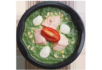 Суп- крем из шпината с лососем