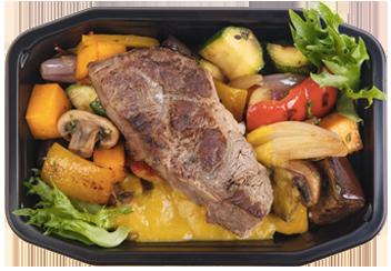 Томленая говядина Оссобуко. Рататуй из сезонных овощей