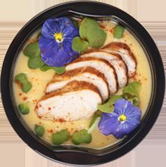 Гороховый суп с копченым цыпленком