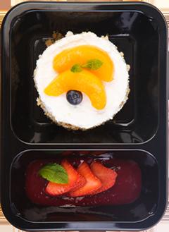 Творожные маффины с персиком и ванилью