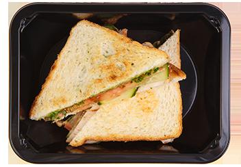 Цельнозерновой сэндвич с бужениной из индейки