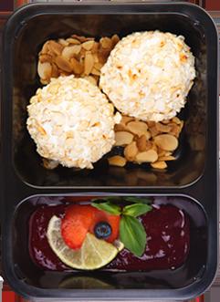 Творожные шарики с арахисом и карамелью