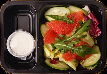 Салат овощной с грейпфрутом и медовым дрессингом