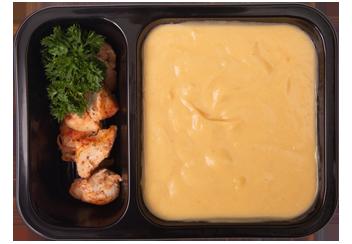 Крем-суп из гороха с цыпленком