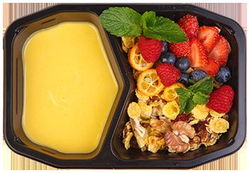 Скандинавская гранола с манговым йогуртом