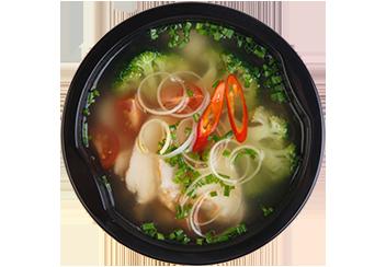 Суп минестроне с пармезаном