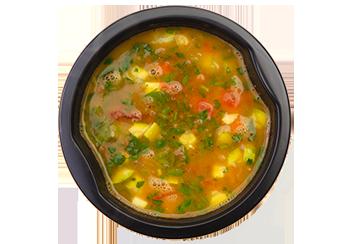 Суп из чечевицы с вяленым томатом