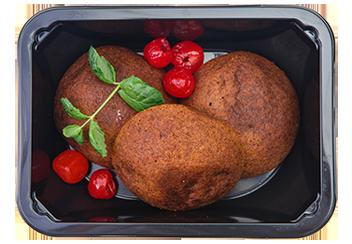 Бананово-вишневое печенье с кумкватом