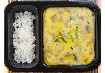 Азиатский грибной суп с рисом