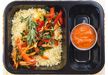 Кускус с овощами и соусом Матбуха