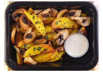 Запеченный картофель с травами и грибами