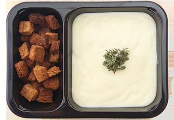 Сливочный крем-суп из печеного картофеля