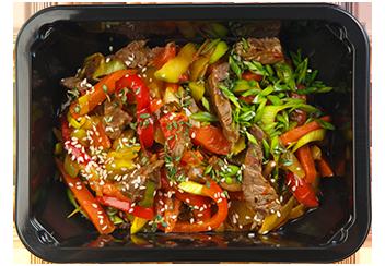 Стир-фрай из говядины с овощами