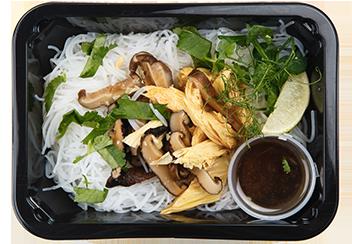 Салат с фучжу и шиитаке