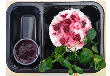 Десерт вишня-шоколад