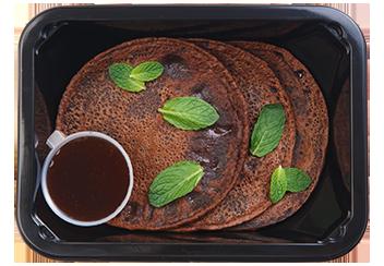 Шоколадные оладьи