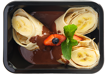Шоколадно-банановый тарт с бисквитной крошкой