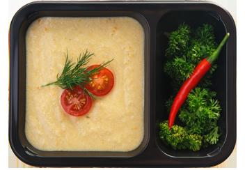 Крем-суп из печеного картофеля