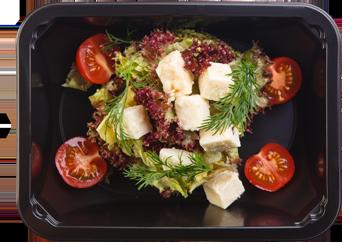 Микс-салат с адыгейским сыром, томатом и бальзамической заправкой