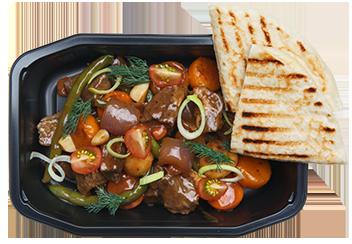 Стью из говядины с овощами