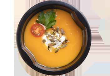 Крем-суп из тыквы с маскарпоне и семечками