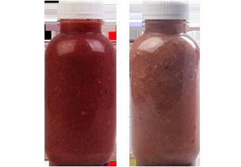 Детокс: Strawberry banan и Blueberry banan